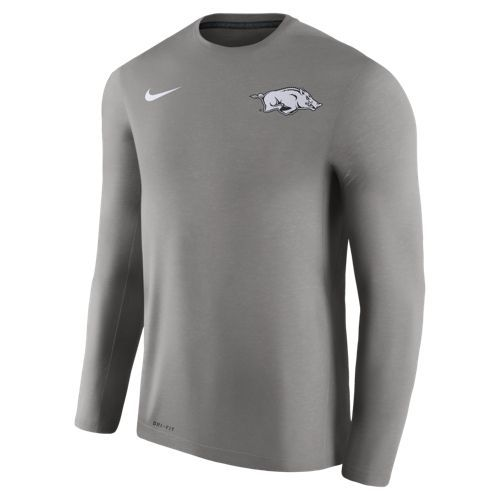 Nike™ Men's University of Arkansas Dry Top Coaches Long Sleeve T-shirt