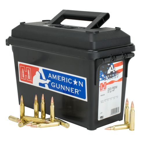Hornady American Gunner 223 Remington 55 Grain Hollow Point Can of 247 Ammunition