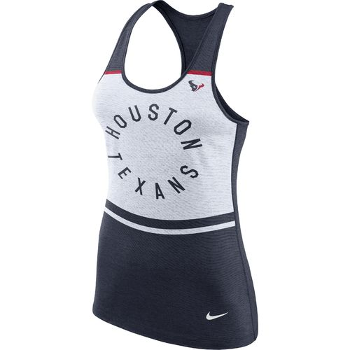Nike Women's Houston Texans Dri-Blend Circle Tank Top