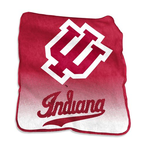 Logo Indiana University 50 in x 60 in Raschel Throw