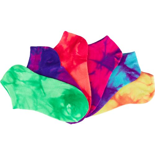 BCG Girls' True Bright Tie-Dye No-Show Socks 6 Pairs - view number 3
