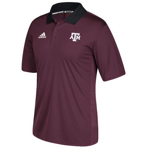 adidas Men's Texas A&M University Sideline Coaches Polo Shirt
