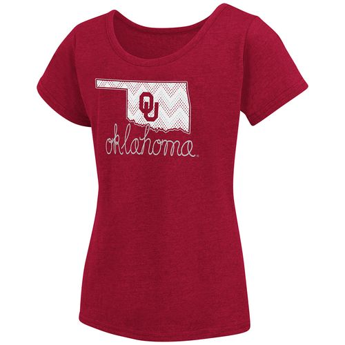 Colosseum Athletics™ Girls' University of Oklahoma Tissue 2017 T-shirt