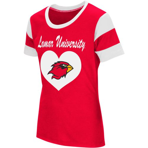 Colosseum Athletics Girls' Lamar University Bronze Medal Short Sleeve T-shirt