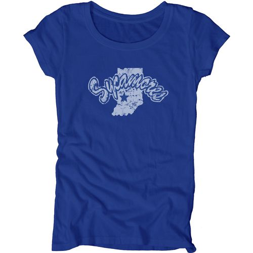Blue 84 Juniors' Indiana State University Mascot Soft T-shirt - view number 1