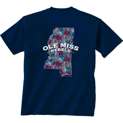New World Graphics Women's University of Mississippi Comfort Color Puff Arch T-shirt