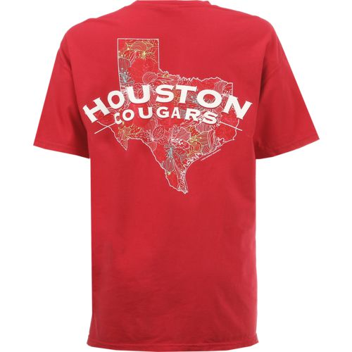 New World Graphics Women's University of Houston Comfort Color Puff Arch T-shirt