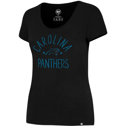 '47 Carolina Panthers Women's MVP Splitter Scoop Neck T-shirt - view number 2