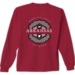 New World Graphics Women's University of Arkansas Faux Pocket Long Sleeve T-shirt - view number 1