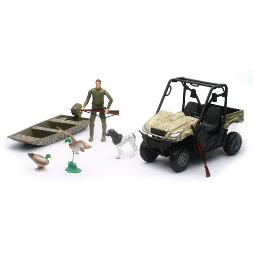 New-Ray Toys Wildlife Hunter Camo Hunting Vehicle Play Set
