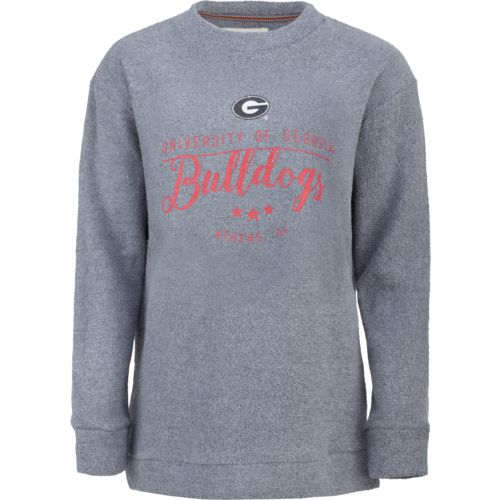Three Squared Juniors' University of Georgia Finley Comfy Terry Pullover