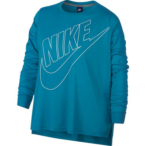 Display product reviews for Nike Women's Sportswear Prep Futura Long Sleeve Plus Size Top
