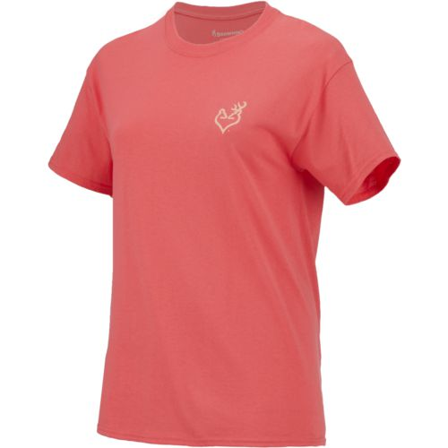 Browning Women's Classic Rose Gold Foil Buckheart T-shirt - view number 1