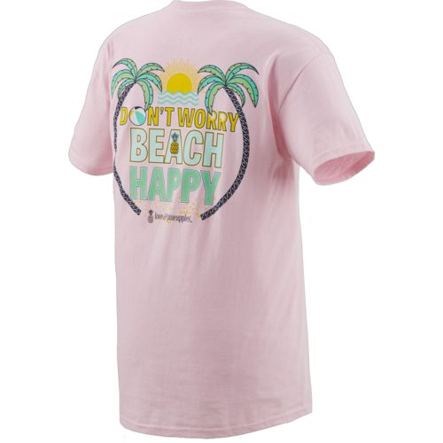 Love & Pineapples Women's Don't Worry Beach Happy T-shirt - view number 2