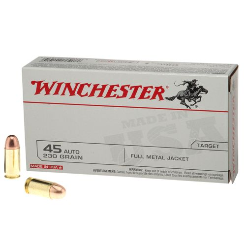 Winchester USA Full Metal Jacket .45 Automatic 230-Grain Handgun Ammunition - view number 1