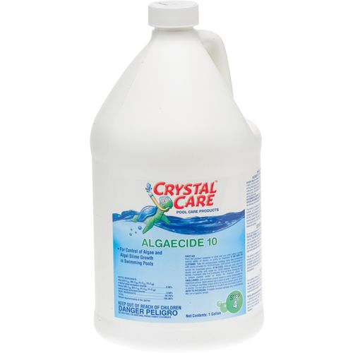 Crystal Care Pool Chemicals 1-Gallon Liquid Algaecide 10