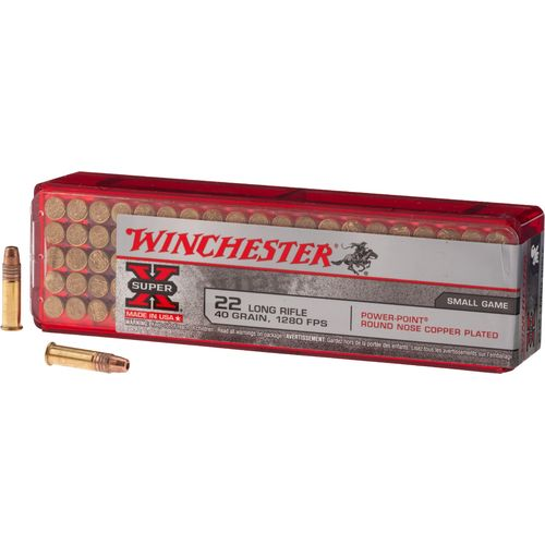 Winchester Super-X .22 Long Rifle 40-Grain Rimfire Ammunition - view number 1