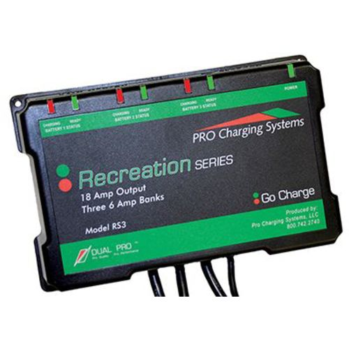 Dual Pro Recreation Series 3-Bank Battery Charger