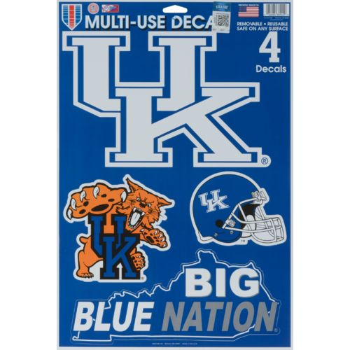 WinCraft University of Kentucky Multiuse Decals 4-Pack