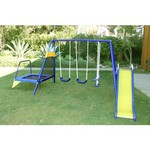 Sportspower Almansor Metal Swing, Slide and Trampoline Set - view number 3