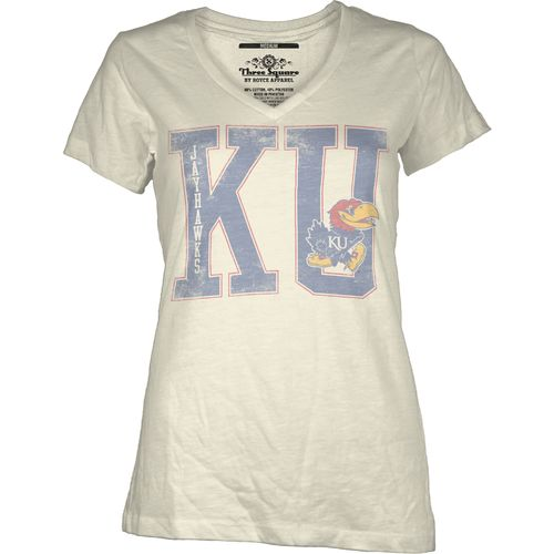 Three Squared Juniors' University of Kansas Regina T-shirt