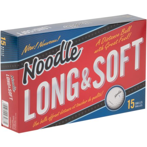 Noodle Long and Soft Golf Balls 15-Pack