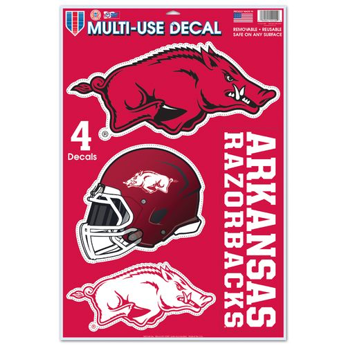 WinCraft University of Arkansas Multi-Use Decals 4-Pack