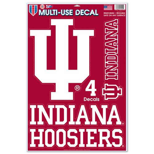 WinCraft Indiana University Multiuse Decals 4-Pack