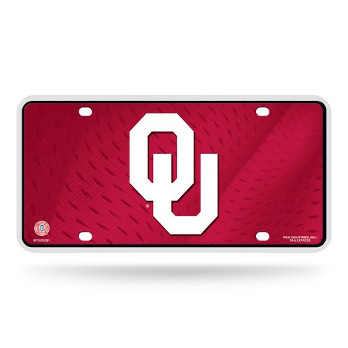 Rico University of Oklahoma Metal Auto Tag
