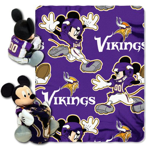 The Northwest Company Minnesota Vikings Mickey Mouse Hugger and Fleece Throw Set - view number 1