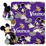 The Northwest Company Minnesota Vikings Mickey Mouse Hugger and Fleece Throw Set