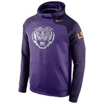 Nike Men's Louisiana State University Champ Drive Hyperspeed Pullover Hoodie