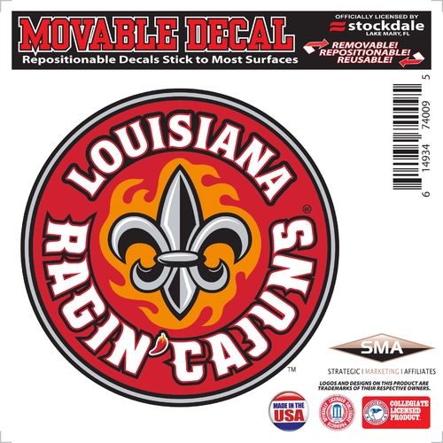 Stockdale University of Louisiana at Lafayette 6' x 6' Decal