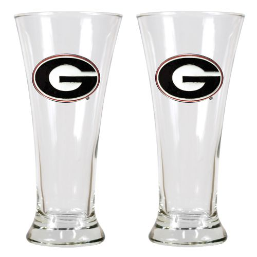 Great American Products University of Georgia 19 oz. Pilsner Glasses 2-Pack