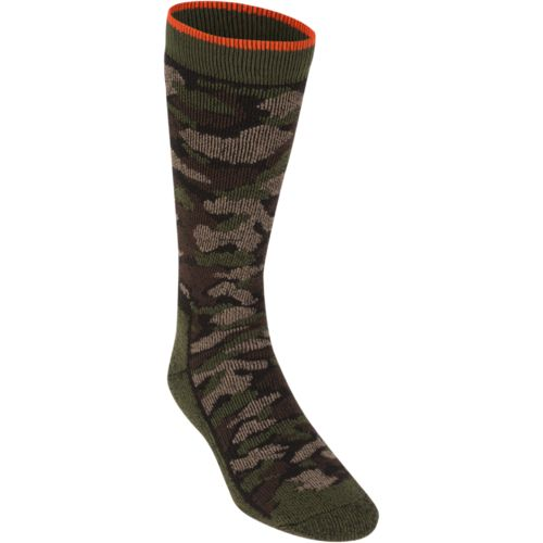 Wolverine Men's Full-Cushion Cotton Camo Boot Socks 2-Pairs