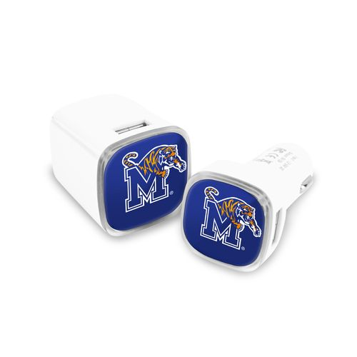Mizco University of Memphis USB Chargers 2-Pack