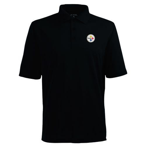 Antigua Men's Pittsburgh Steelers Piqué Xtra-Lite Polo Shirt