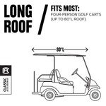 Classic Accessories Long Roof Golf Cart Cover - view number 8