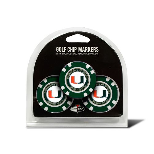 Team Golf University of Miami Poker Chip and Golf Ball Marker Set