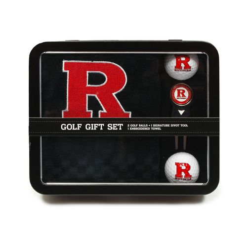 Team Golf Rutgers University Embroidered Towel Tin Gift Set