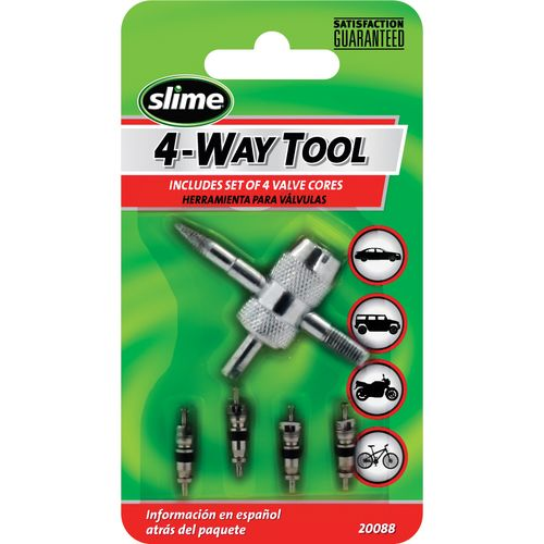 Display product reviews for Slime 4-in-1 Tool and Valve Cores Set