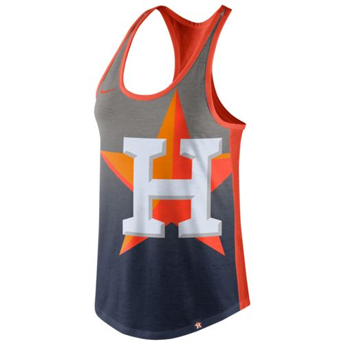 Nike Women's Houston Astros Triblend Color Fade Tank