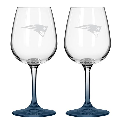 Boelter Brands New England Patriots 12 oz. Wine Glasses 2-Pack