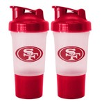 Boelter Brands San Francisco 49ers 16 oz. Protein Shakers 2-Pack
