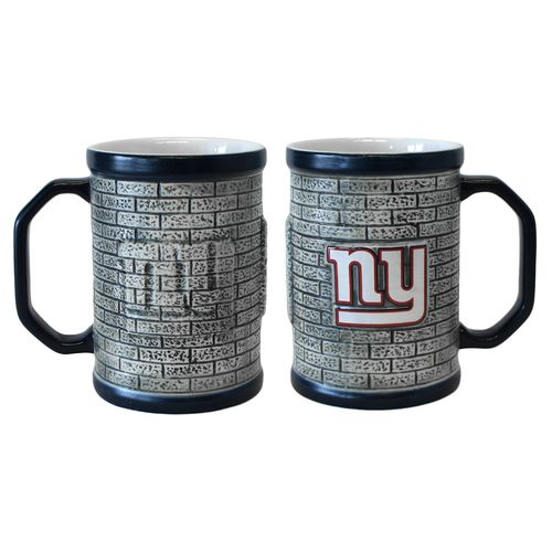 Boelter Brands New York Giants Stone Wall 15 oz. Coffee Mugs 2-Pack