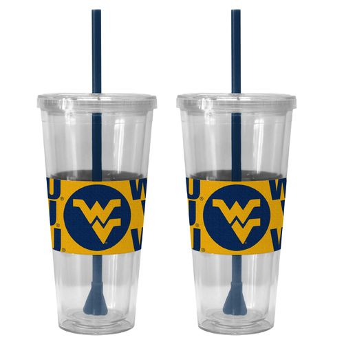 Boelter Brands West Virginia University Bold Neo Sleeve 22 oz. Straw Tumblers 2-Pack - view number 1