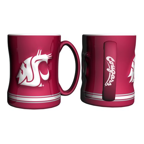 Boelter Brands Washington State University 14 oz. Relief Mugs 2-Pack