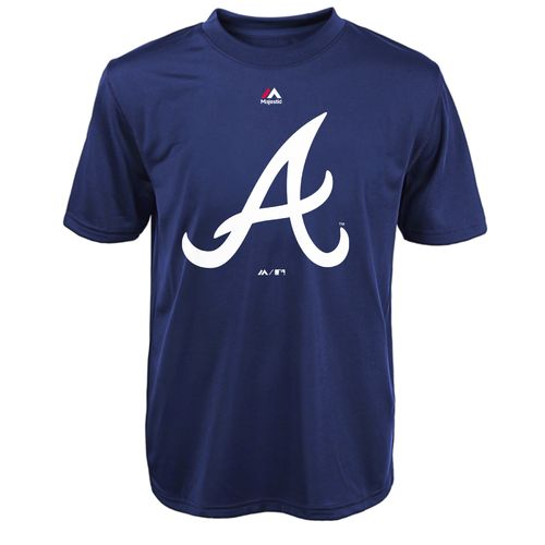 Majestic Boys' Atlanta Braves Primary Logo T-shirt