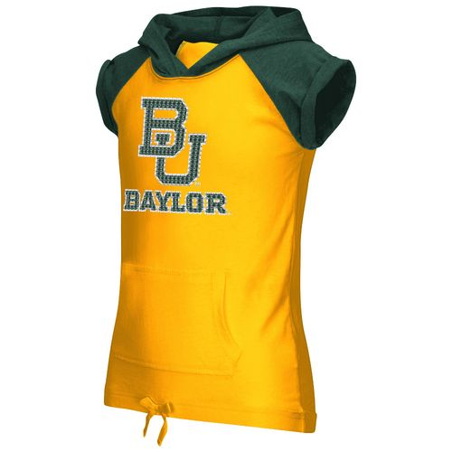 Colosseum Athletics Girls' Baylor University Jewel Short Sleeve Hoodie