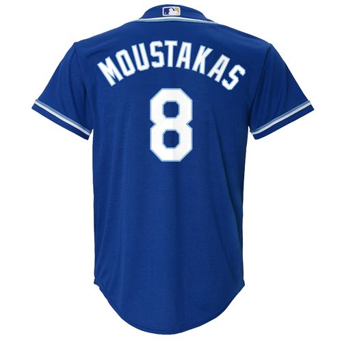 Majestic Boys' Kansas City Royals Mike Moustakas #8 Cool Base Alternate Replica Jersey